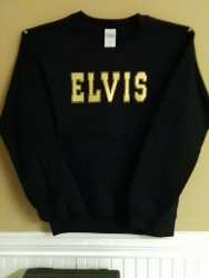 ELVIS GOLD SATIN RHINESTONE SWEATSHIRT