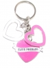 PINK DANGLE HEART KEYRING