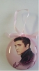 ELVIS PINK FOIL ORNAMENT