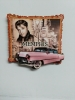 ELVIS AND CADDY WOOD MAGNET