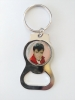 BURNING LOVE SPINNER BOTTLE OPENER KEYRING