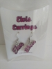 ELVIS PINK RHINESTONE EARRINGS