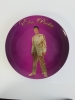 PURPLE GOLD LAME PLATE WITH STAND