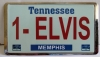 ELVIS #1 LICENSE PLATE MAGNET