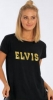 ELVIS GOLD SATIN RHINESTONE LADIES SHIRT