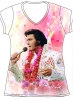 ELVIS ALOHA ALL OVER PRINT LADIES SHIRT
